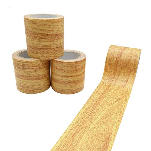 Creative ingenuity 1 Roll 15 Feet Simulation Wood Grain High-Adhesive Repair Tape for Desk/Chair/Furniture/Floor Beautification Decoration Tape (Gold Camel Oak) from Creative ingenuity