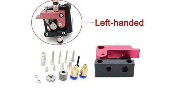 Left 3D Printer Makerbot MK8 1.75mm Filament all-Metal Bowden Extruder Wire feeder