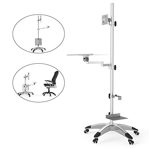 ZZYQ Computer Screen Stand, Computer Monitor Stand, Universal LCD TV Stand, Single Screen Floor Display Stand, Movable, Telescopic