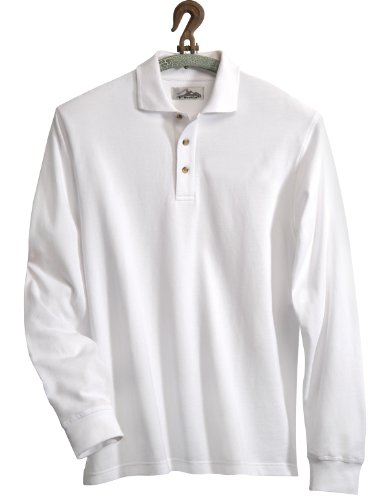 - Tri-Mountain 665 Monument Cotton Pique Long Sleeve Golf Shirt