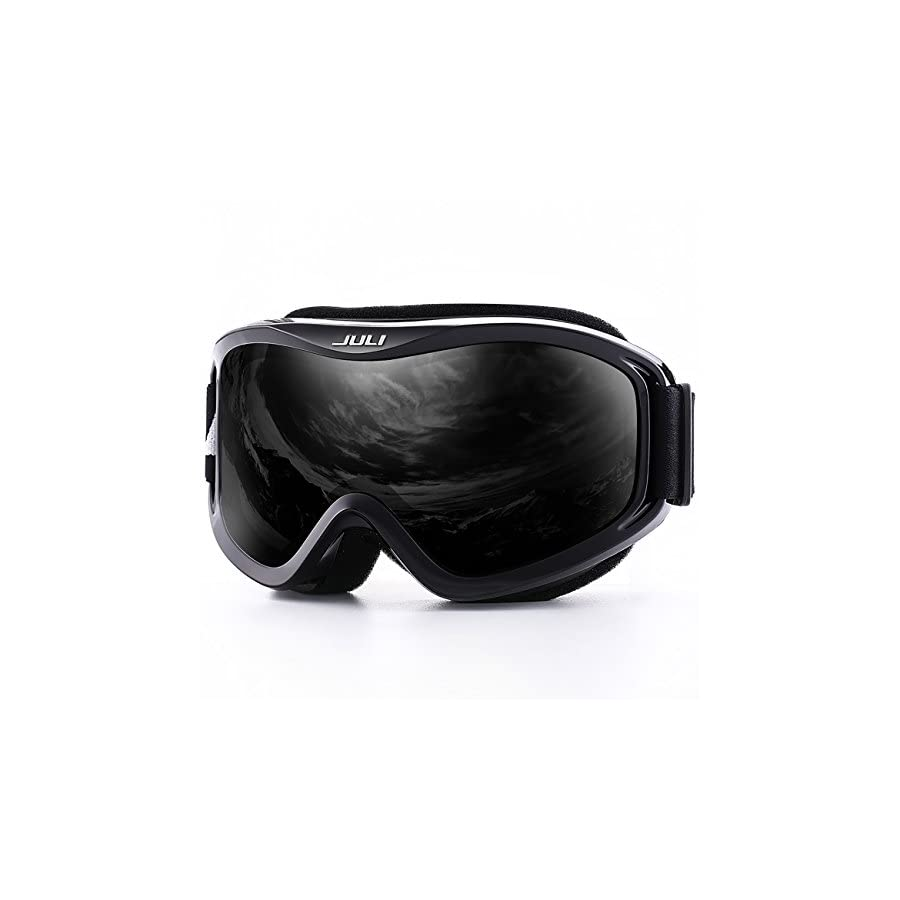 JULI Ski Goggles,Winter Snow Sports Snowboard Over Glasses Goggles with Anti fog UV Protection Double Lens for Men Women & Youth Snowmobile Skiing Skating