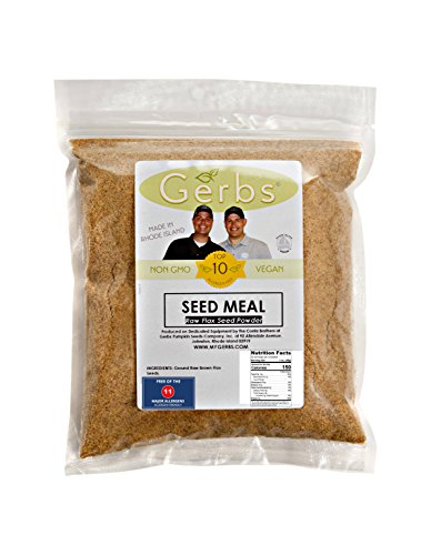 Ground Raw Flax Seed Meal By Gerbs - 2 LBS - Top 11 Food Allergen Free & NON GMO - Vegan & Kosher – Premium Full Oil Content Flax Protein Powder
