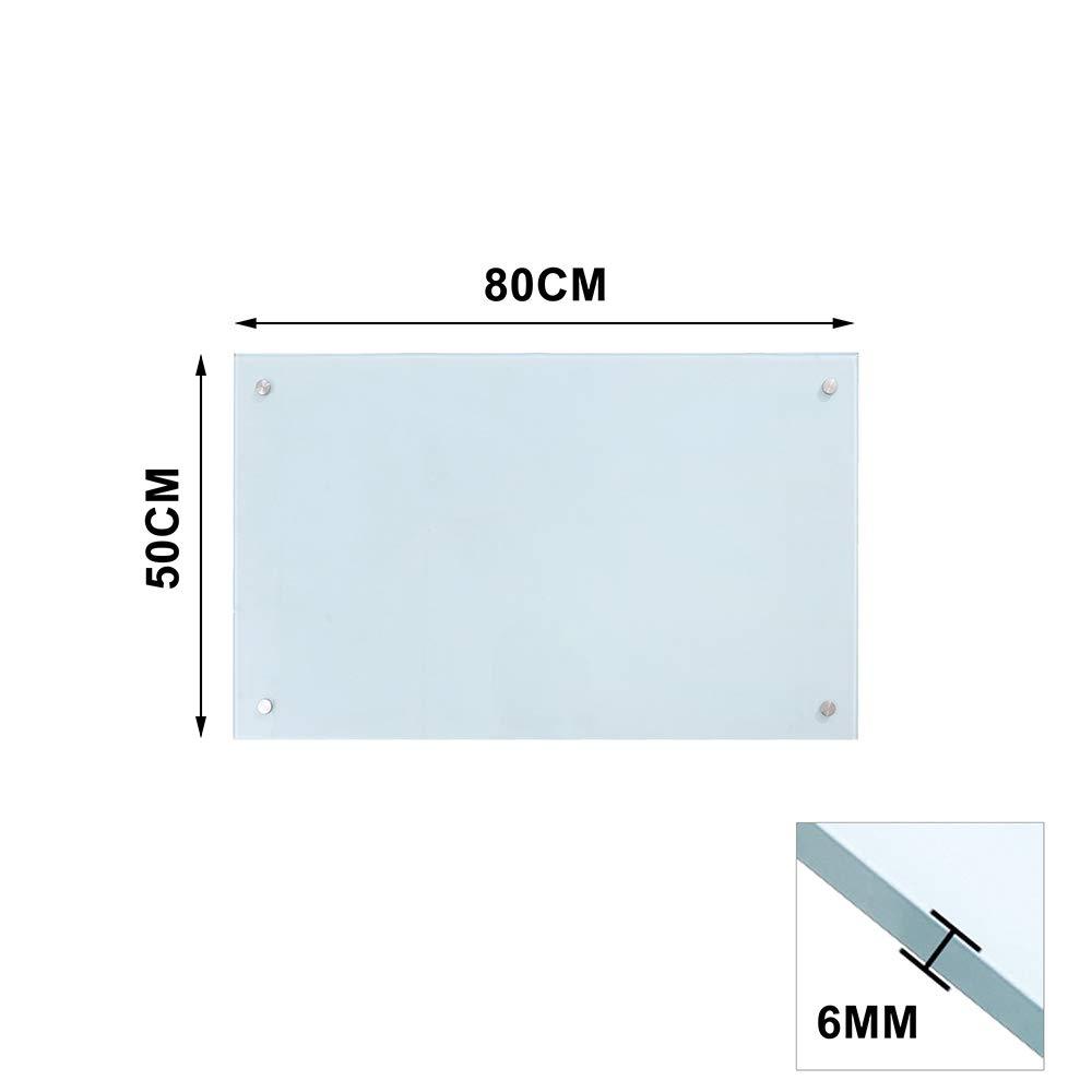 Hengda Glass splashback 50x80cm Clear Transparent Toughened Heat Resistant Glass Splashback