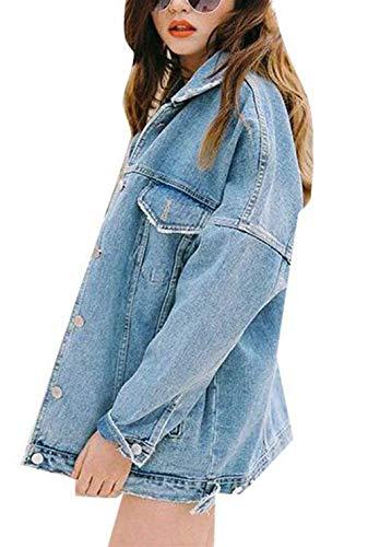 Hippie Giovane Jeans Women Moda Jacket Autunno Blau Fidanzato Yasminey Style Streetwear Manica Giacche Lunga Outerwear Donna Giaccone Caldo Baggy Primaverile Cappotto 1xHSz8wq