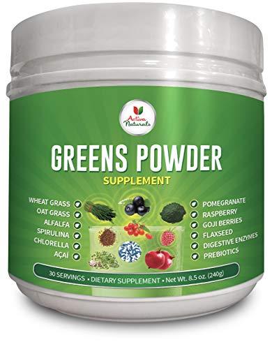 Supplement Plus Fruit - Greens Powder Supplement with Green Veggies & Fruits, Wheatgrass, Spirulina, Digestive Enzymes and Probiotics