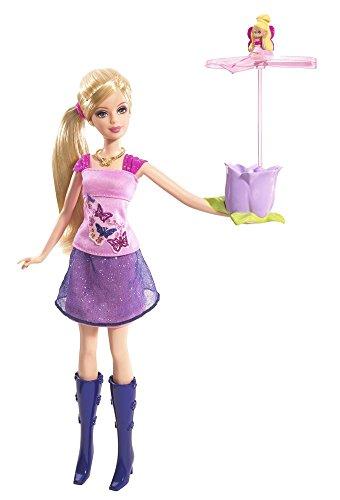 Mattel- P6314-0, Barbie With Flying Thumbelina (Thumbelina Barbie Doll)