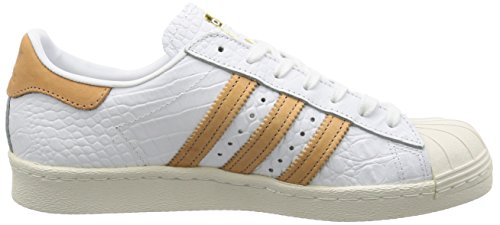 Mens Adidas Superstar Leather White Footwear Trainers 80s TnqfSw