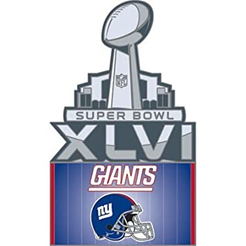 Super Bowl XVLI New York Giants Participant Pin with logo
