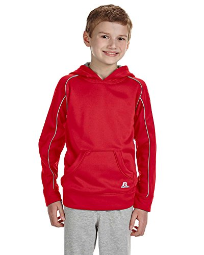 Russell Athletic Youth Tech Fleece Pullover Hood, Small, TRUE -