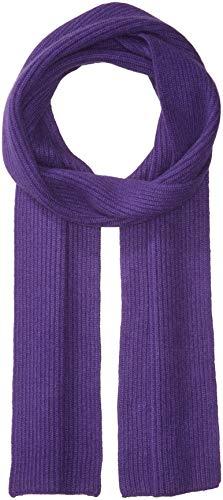 Williams Cashmere Men's Cashmere Rib Knit Scarf, purple, -