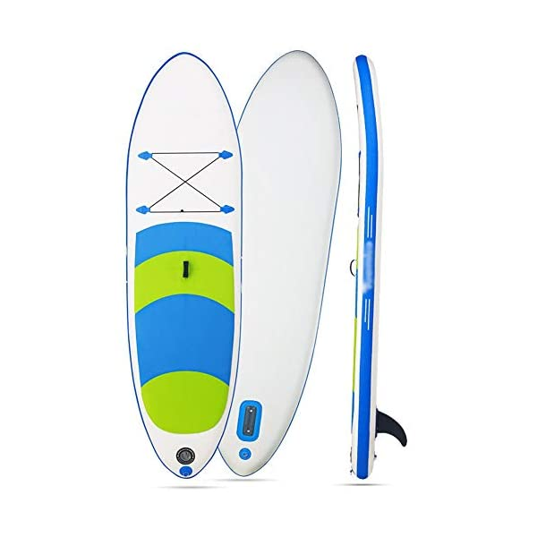 Stand Up Paddel Gonfiabile Non Slip gonfiabile SUP Stand Up Paddle Board con regolabile bagagli Paddle Carry Bag e la… 5 spesavip