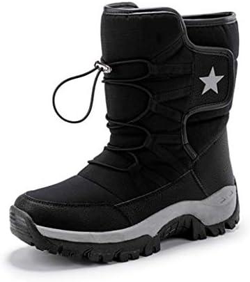 男女兼用 ワークブーツ 厚底 裏ボア お出かけ ムートンブーツ メンズ 滑らない もこもこ 雪靴 スノーブーツ 防滑 ショットブーツ ファッション 綿靴 歩きやすい 秋冬 人気 純色 ウィンターブーツ メンズ 靴