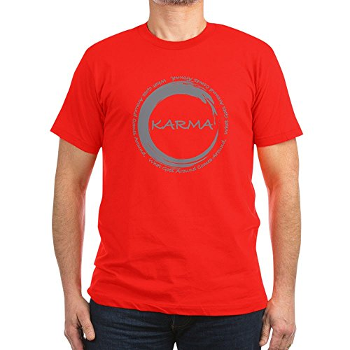 (CafePress - Karma, What Goes Around Comes Around T-Shirt - Men's Fitted T-Shirt, Stylish Printed Vintage Fit T-Shirt Red)
