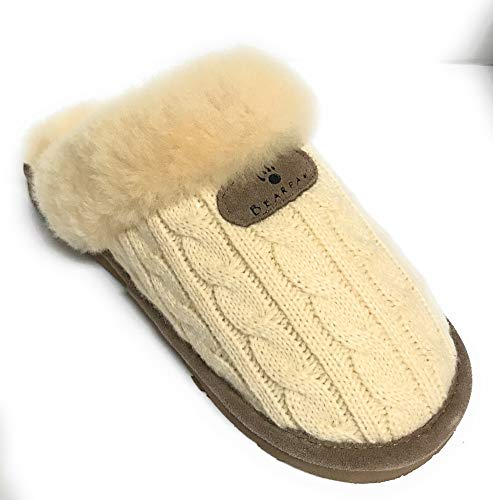 BEARPAW Women's Effie Slide Slipper, Linen, 6 M]()