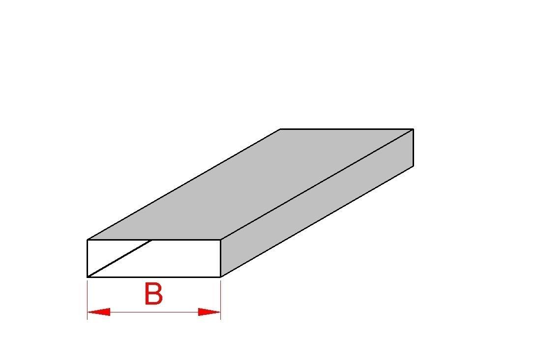180 220 300 Intelmann Flachkanal mit Befestigungsleiste Innenversteifung B = 180mm L = 1000mm