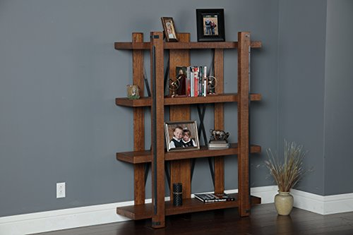American Furniture Classics 4 Shelf Industrial Bookcase 60quot x 48quot Hewn Pallet