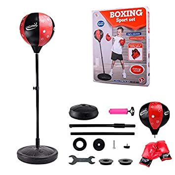 vraie affaire style exquis économiser jusqu'à 60% Punching Ball sur Pied,Sac de Frappe sur Pied Adulte Enfants, sur Pied  réglable en Hauteur 80cm-110cm - Kit de Sac de Boxe sur Pied Sanda Boxing  Heavy ...