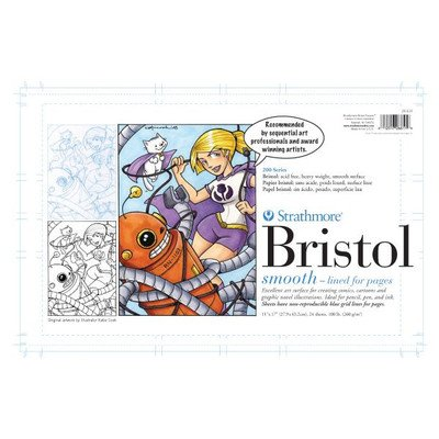 strathmore-26-611-200-bristol-board-with-smooth-finish-11-x-17-size-pack-of-24