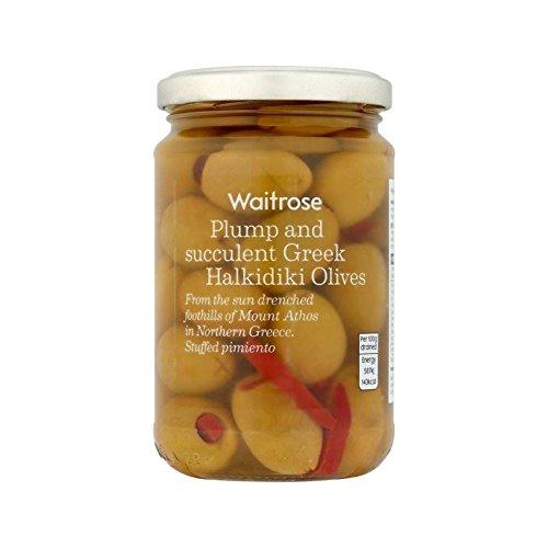 Greek Olives Stuffed with Pimento Waitrose 300g - Pack of 2