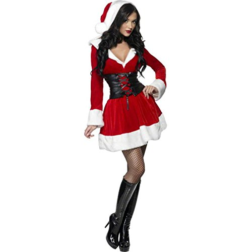 Cheap Mrs Claus Costumes (Hooded Santa Adult Costume - Large)
