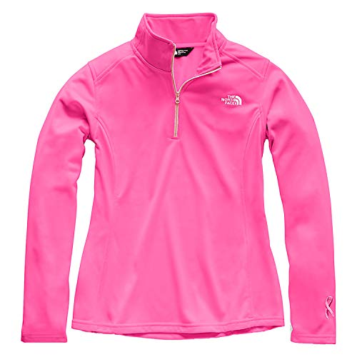 The North Face Women Pr Tech Glacier Quarter Zip - Raspberry Rose & Purdy Pink - - Fleece Pink Top