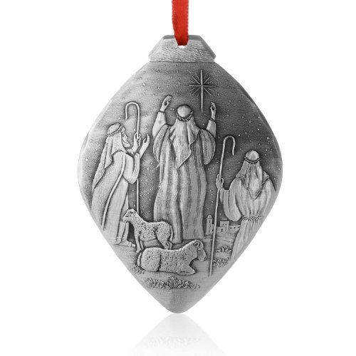 Wendell August Nativity Shepherds Ornament, Metal, Handmade in the USA Forge