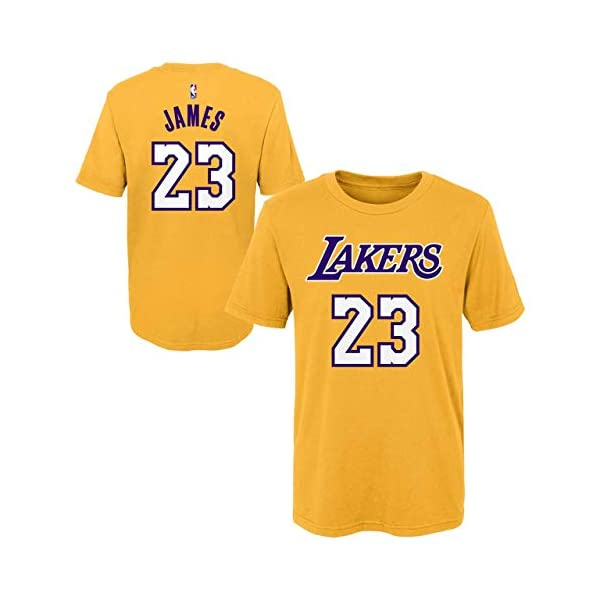 ac4686d7f Outerstuff Lebron James Los Angeles Lakers  23 Youth Player Name ...