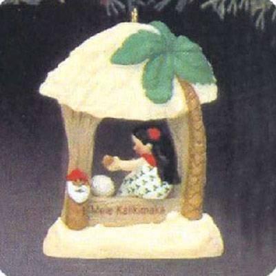 Mele Kalikimaka Windows of the World 3rd in Series 1987 Hallmark Ornament QX4827 by Hallmark Ornaments