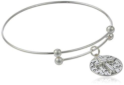 Sterling Silver Adjustable Faith Bracelet