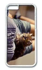 MOKSHOP Adorable fluffy kitten Hard Case Protective Shell Cell Phone Cover For Apple Iphone 6 Plus (5.5 Inch) - PC Transparent
