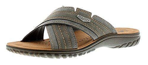 NUOVO da uomo / UOMO NERO CROCE spalline Design slip on sandali sabot - Grigio - NUMERI UK 6-12