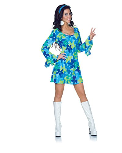 [Underwraps Women's Wild Flower, Blue/Green, Small] (Flower Child Costumes Ideas)