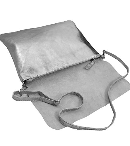 in Italy pour femme Freyday Marron Made Gris Pochette 5nvzS