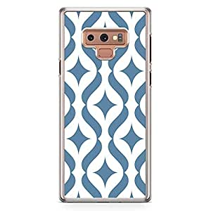 Loud Universe Blue Arabic Pattern Samsung Note 9 Case Classical Arabic Architecture Tile Samsung Note 9 Cover with Transparent Edges