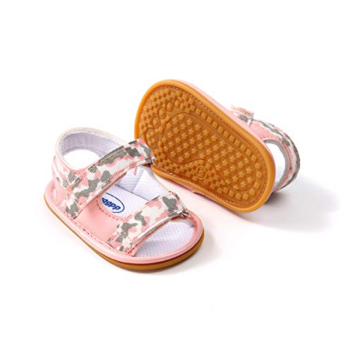 Mybbay Infant Baby Girls Sandals Rubber Soft Sole Summer Sweet Princess Dress Bowknot First Walker Shoes (3-6 Months Infant, ()