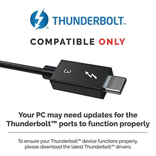 Sabrent Thunderbolt 3 to Dual DisplayPort Adapter [Supports Up to Two 4K  60Hz Monitors on Mac and Some Windows Systems] (TH-3DP2)