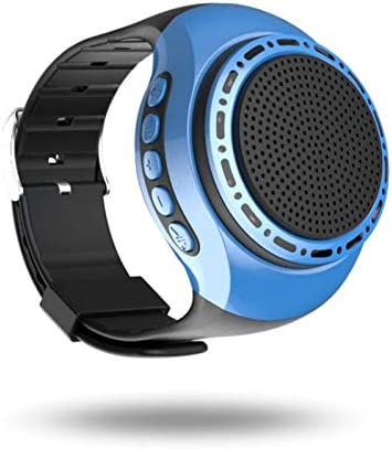 Bluetooth Speaker Watch Portable Wearable Mini Sport Wireless Bluetooth 4.0 Stereo Subwoofer with Any Smarter Phone Blue