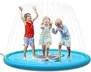 "Jasonwell Sprinkle & Splash Play Mat 68"" Sprinkler for Kids Outdoor Water Toys Fun for Toddlers Boys"