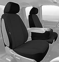 Fia SP88-31 BLACK Custom Fit Front Seat Cover Split Seat 40/20/40 - Poly-Cotton, (Black)