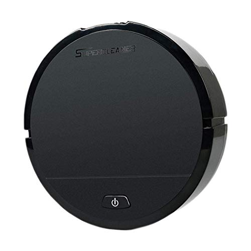 Robot Vacuum Cleaner Sweeping and Mopping Robotic Vacuum Cleaning Dust and Pet Hair, Strong Suction Route Planning on Hard Floor, Carpet and All Floor Types (Black)