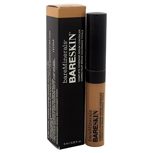 bareMinerals Bareskin Complete Coverage Serum Medium Golden Concealer for Women, 0.2 Ounce