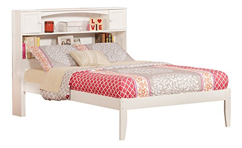 Atlantic Furniture AR8531002 Newport Platform Bed with Open Foot Board, Full, White