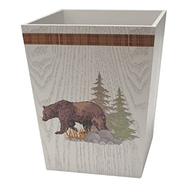 Allure Home Creations Lodge Tapestry Waste Basket