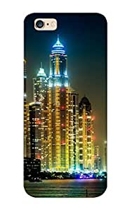 New Design Shatterproof 81b23d77011 Case For iphone 6 plus (united Arab Emirates Skyscrapers Rivers Houses Dubai Megapolis Night Cities ) For Lovers