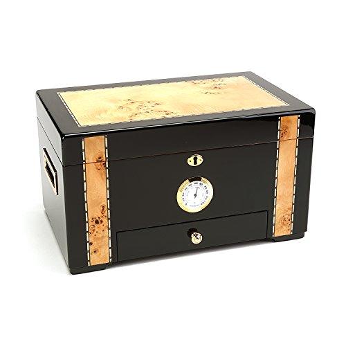 - Wooden Humidor, Desktop Humidor 150 Count Piano Gloss Finish - Basel Maddox