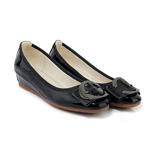 5 Noir Femme APL10871 BalaMasa EU Compensées Noir 36 Sandales naB0x0WH