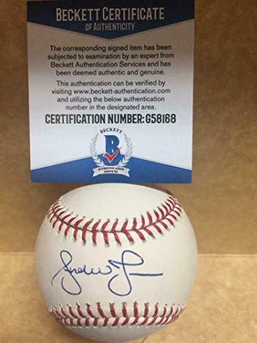 Andruw Jones Atlanta Braves Autographed Signed Memorabilia Major League Baseball - Beckett Authentic