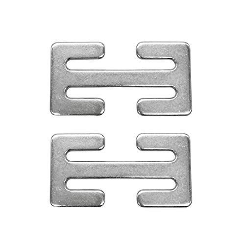 Seat Belt Adjuster Clip -  Sungrace Metal Lock(Silver, 2 Pack)