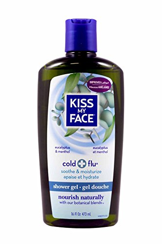 Total Wash Face - Kiss My Face Shower Gel, Cold & Flu - Eucalyptus - 16 oz