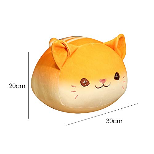 LOadSEcr Stuffed Animal, Plush Toys, Baby Toys, Kids Simulation Bread Cat Shaped Stuffed Doll Plush Toy Sofa Car Decor Girl Gift for Adults or Children Grey